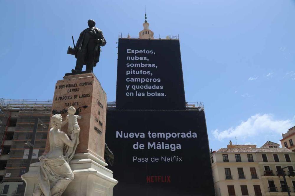 Publicidad de Netflix en Málaga. (Créditos: Diario SUR)